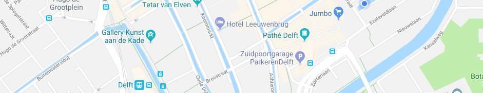 Locatie Hotel Leeuwenbrug in Deflt